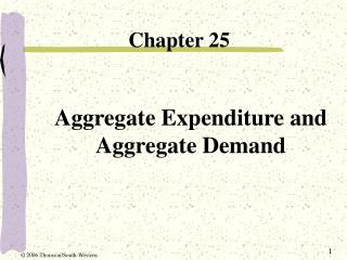 Aggregate Expenditure and Aggregate Demand