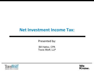 Net Investment Income Tax: