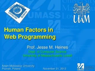 Human  Factors  in  Web  Programming