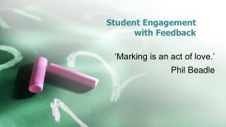 Student Engagement  with Feedback