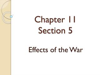 Chapter 11 Section 5