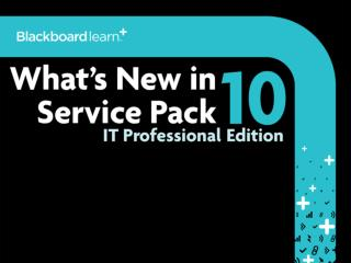 What's New in Service Pack