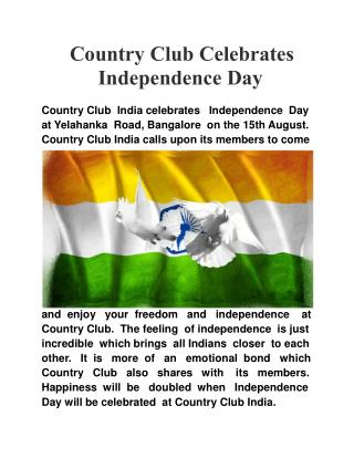 Country Club Celebrates Independence Day