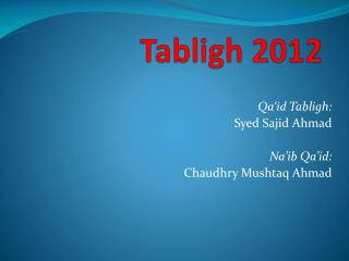Tabligh  2012