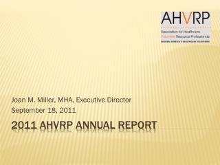 2011 AHVRP Annual Report