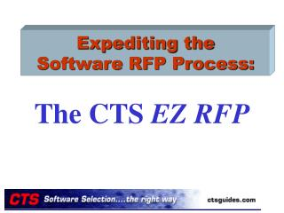 Expediting the Software RFP Process: