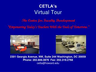 CETLA s  Virtual Tour