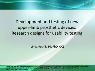 Linda Resnik, PT, PhD, OCS