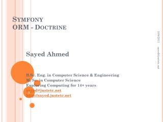 Symfony ORM - Doctrine