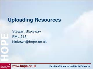 Uploading Resources