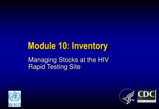 Module 10: Inventory