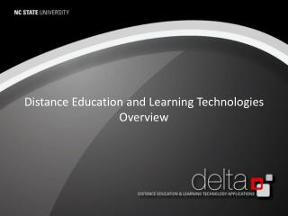 Distance Education and Learning Technologies Overview