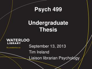 Psych 499 Undergraduate Thesis