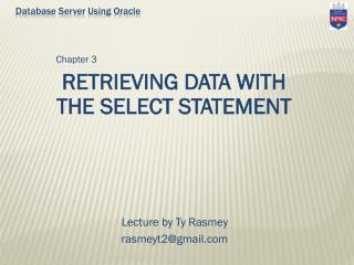 Database Server Using Oracle