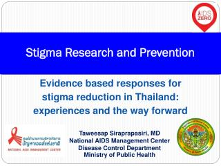 Stigma Research and Prevention