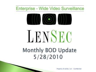Monthly BOD Update  5/28/2010