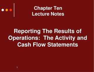 Chapter Ten Lecture Notes