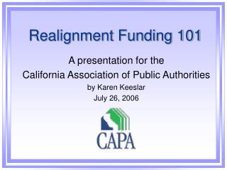 Realignment Funding 101