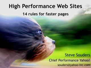 High Performance Web Sites 14 rules for faster pages