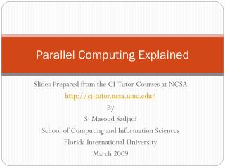 Parallel Computing Explained