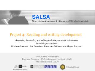 Project 4: Reading and writing development