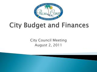 City Budget and Finances