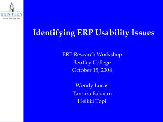 Identifying ERP Usability Issues