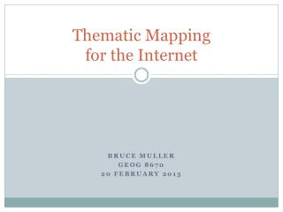 Thematic Mapping for  the Internet