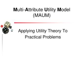 Applying Utility Theory To  Practical Problems