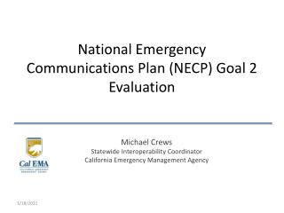 National Emergency Communications Plan (NECP) Goal 2 Evaluation
