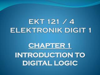 EKT 121 / 4 ELEKTRONIK DIGIT 1