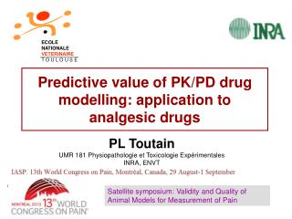Predictive value of PK/PD drug modelling: application to analgesic drugs