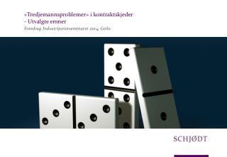 «Tredjemannsproblemer» i kontraktskjeder  - Utvalgte emner