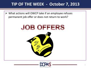 TIP OF THE WEEK   -  October 7,  2013