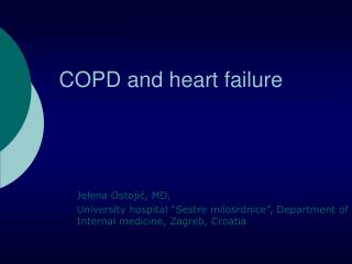 COPD and heart failure