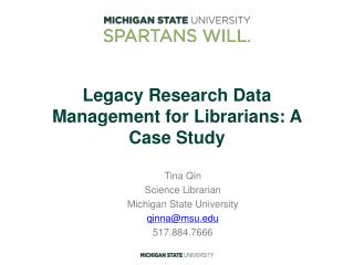 Legacy Research Data Management for Librarians: A Case Study