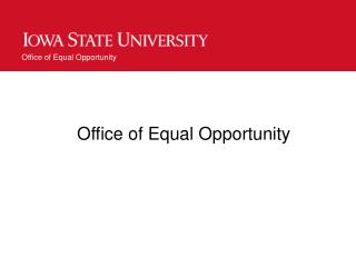 Office of Equal Opportunity