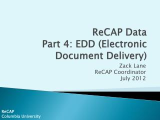 ReCAP  Data Part 4:  EDD (Electronic Document Delivery)