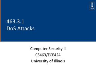463.3.1 DoS Attacks