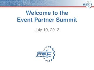 Welcome to the Event Partner Summit