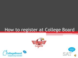 How to register at College Board