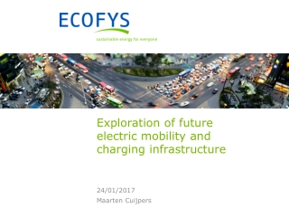 Exploration of future electric mobility and charging infrastructure