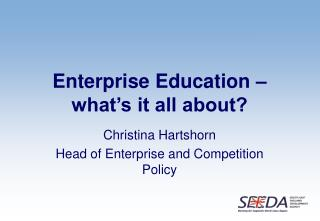 Enterprise Education – what's it all about?