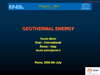 Geophysical Exploration  for Geothermal Resources