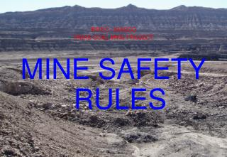 IRITEC / IRASCO TABAS COAL MINE PROJECT MINE SAFETY RULES