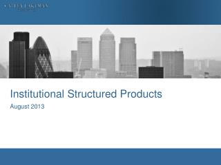 Institutional Structured Products