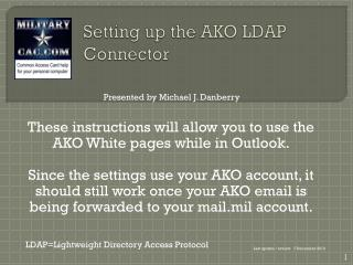 Setting up the AKO LDAP Connector