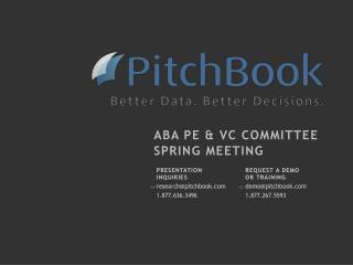 ABA PE & VC Committee Spring Meeting