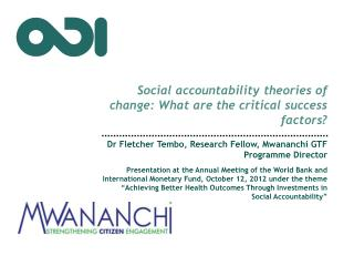 Social accountability theories of change: What are the critical success factors?