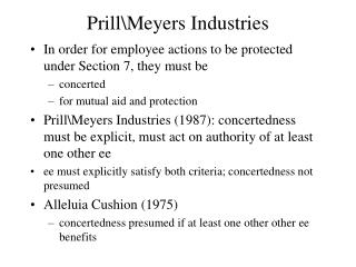 Prill\Meyers Industries